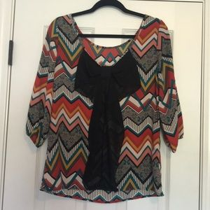 3/4 sleeve tunic blouse